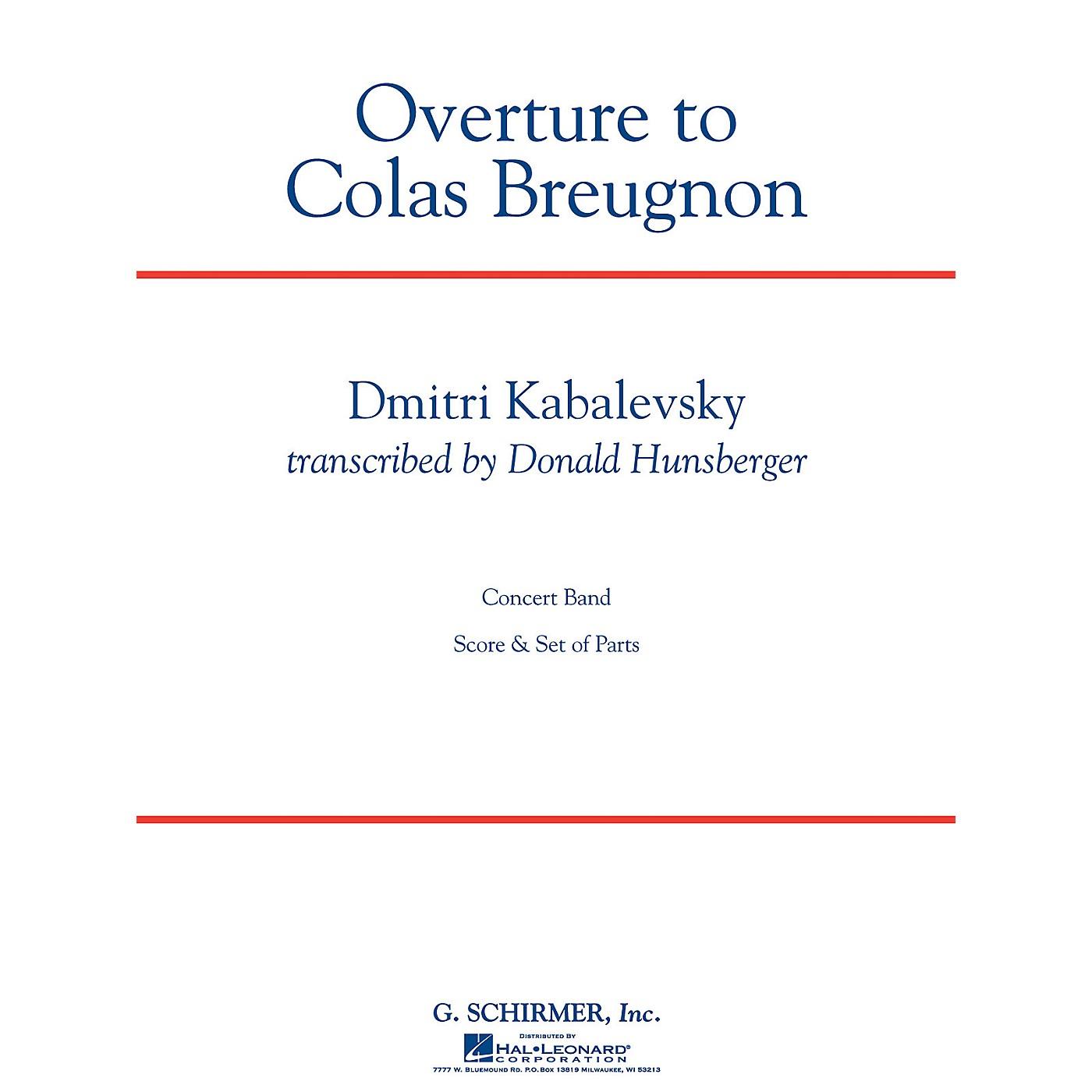 G. Schirmer Overture to Colas Breugnon Concert Band Level 5 by Dmitri Kabalevsky Arranged by Donald Hunsberger thumbnail