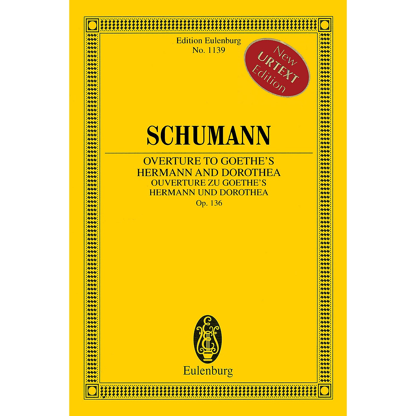 Eulenburg Overture to Goethe's Hermann and Dorothea, Op. 136 Orchestra by Robert Schumann Edited by Armin Koch thumbnail