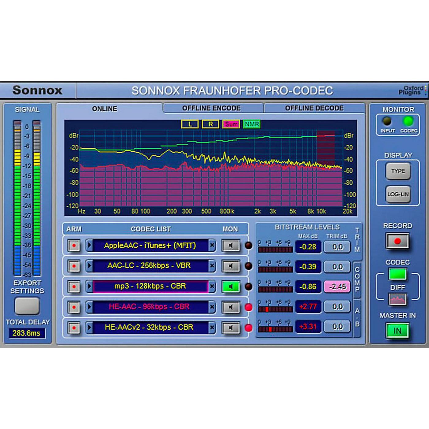 Sonnox Oxford Fraunhofer Pro-Codec (Native) Software Download thumbnail