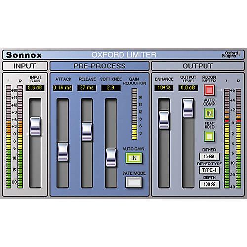 Sonnox Oxford Limiter (HD-HDX) Software Download thumbnail