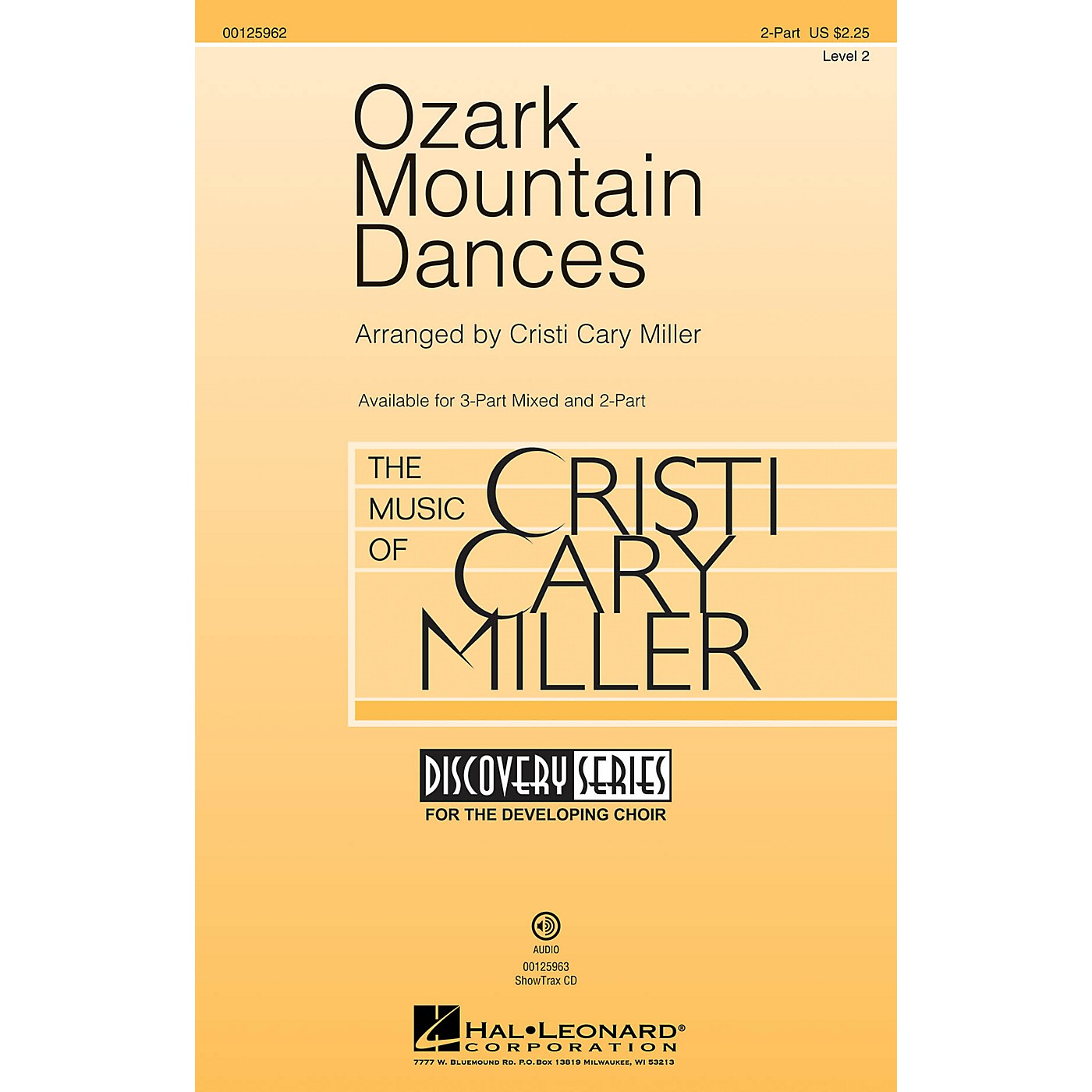 Hal Leonard Ozark Mountain Dances (Medley Discovery Level 2) 2-Part arranged by Cristi Cary Miller thumbnail