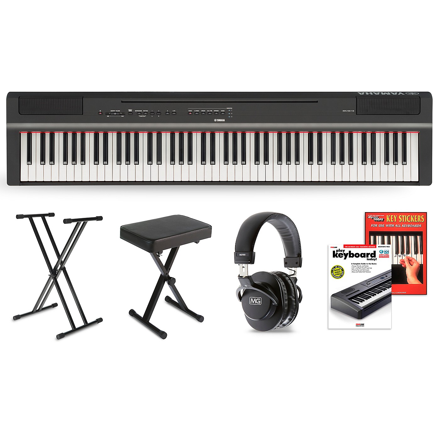 Yamaha P-125 Digital Piano Keyboard Package thumbnail