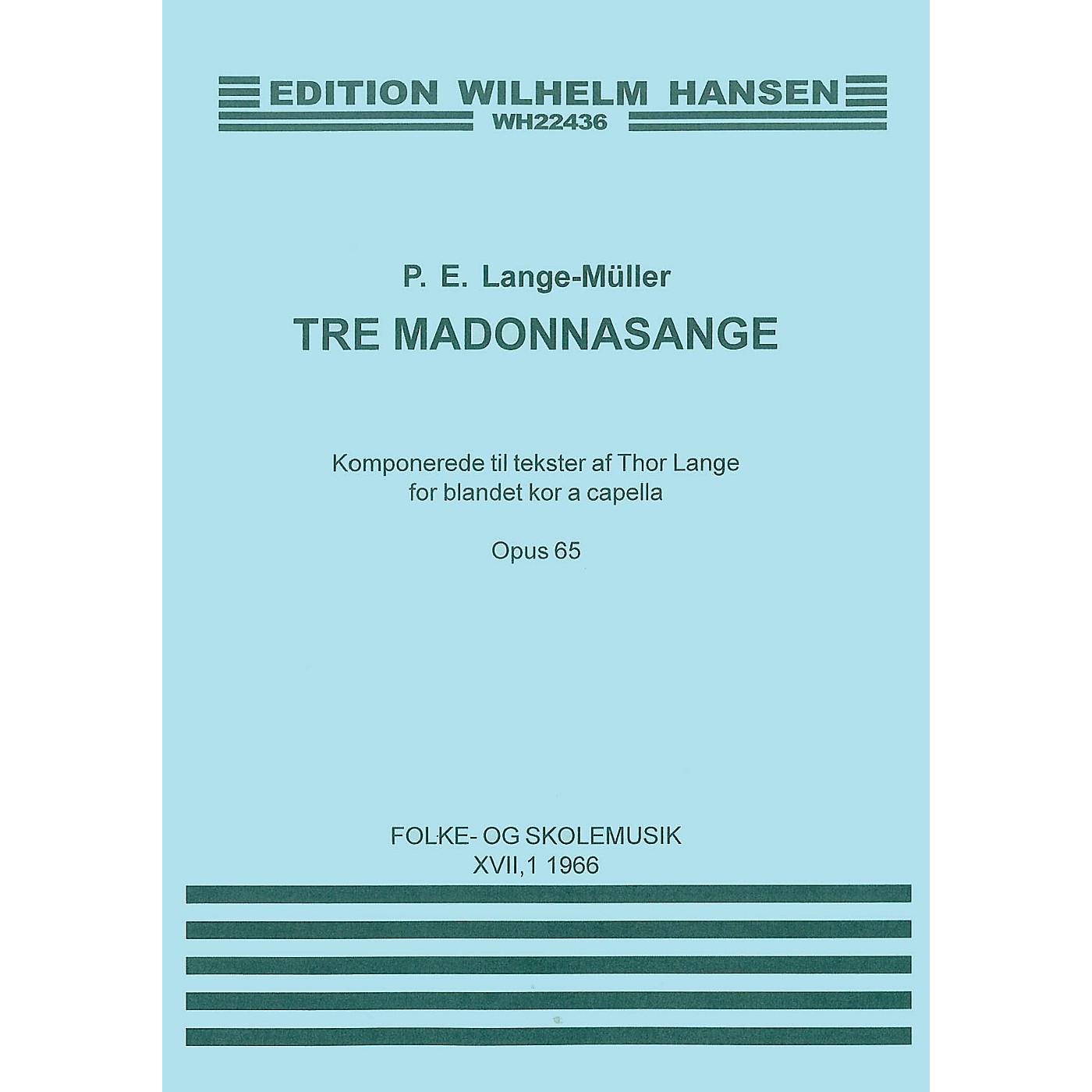 Music Sales P.E. Lange-Muller: Tre Madonna Sange Op.65 SATB thumbnail
