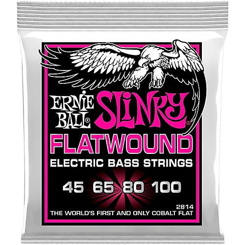Ernie Ball P02814 Super Slinky Flatwound Bass Strings thumbnail