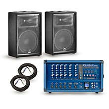 Phonic PA Package Powerpod 630R Mixer with JRX200 Speakers