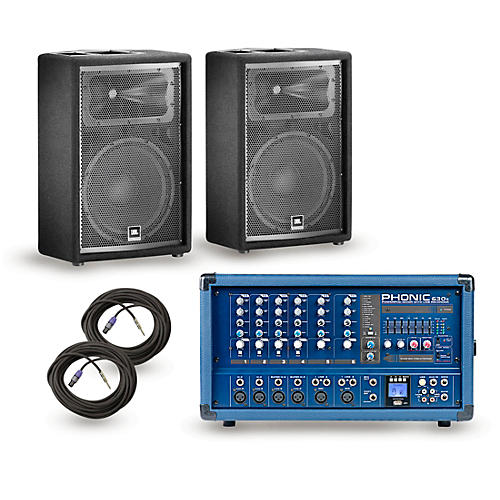 Phonic PA Package Powerpod 630R Mixer with JRX200 Speakers thumbnail