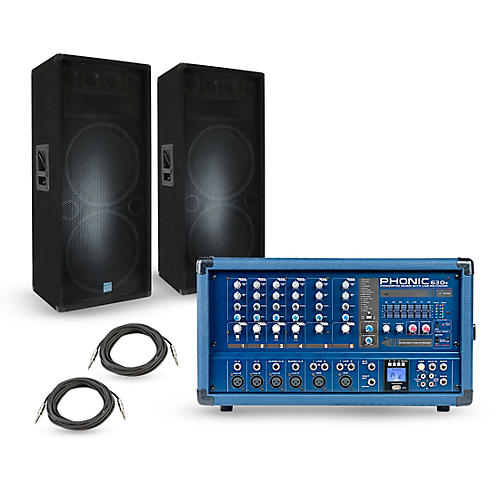 Phonic PA Package with Powerpod 630R Mixer and Gemini GSM Speakers thumbnail