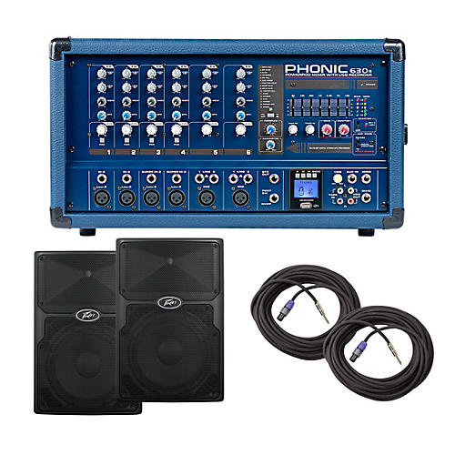 Phonic PA Package with Powerpod 630R Mixer with PVX Speakers thumbnail