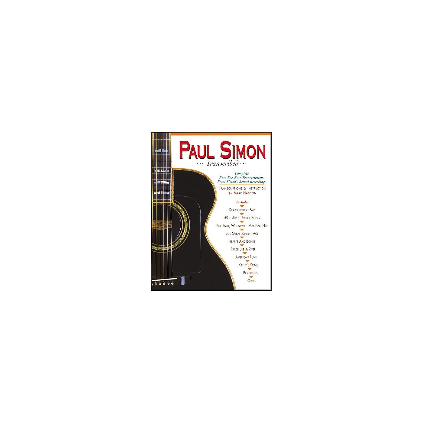 Music Sales PAUL SIMON TRANSCRIBED thumbnail