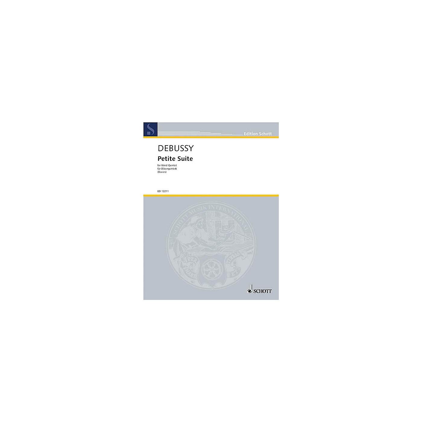 Schott PETITE SUITE FOR WOODWIND QUINTET SET OF PARTS Schott  by Claude Debussy Arranged by Gordon Davies thumbnail