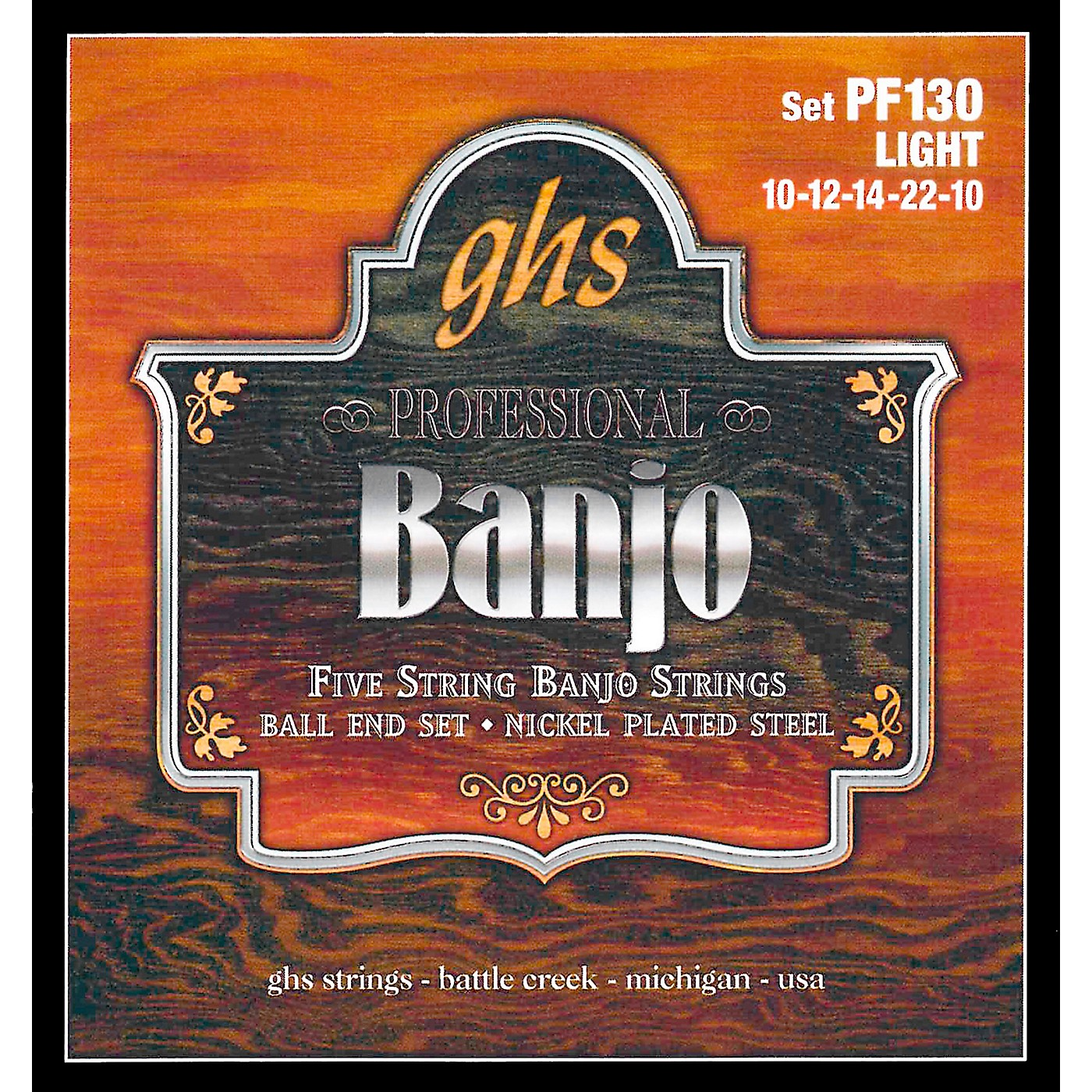GHS PF130 Nickel Ball End 5-String Banjo Strings thumbnail