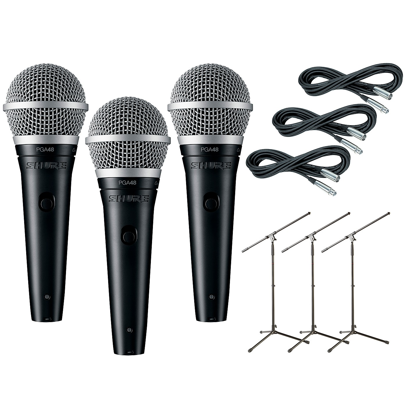 Shure PGA48 3-Pack Mic and Stand Kit thumbnail
