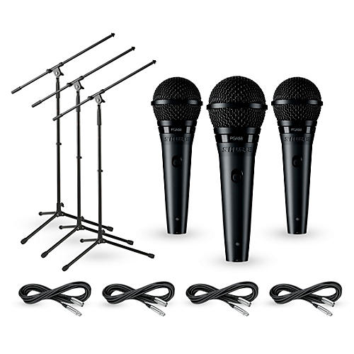 Shure PGA58 3-Pack Mic and Stand Kit thumbnail