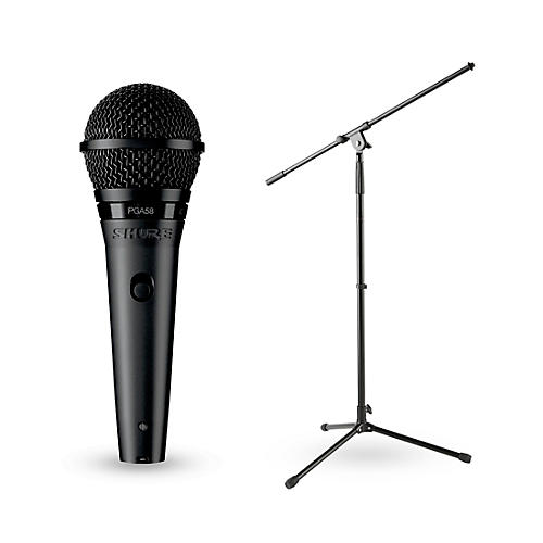 Shure PGA58-XLR Vocal Microphone With Stand thumbnail