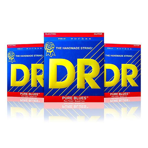 DR Strings PHR-10 Medium Pure Blues Electric Strings - Buy Two, Get One Free thumbnail