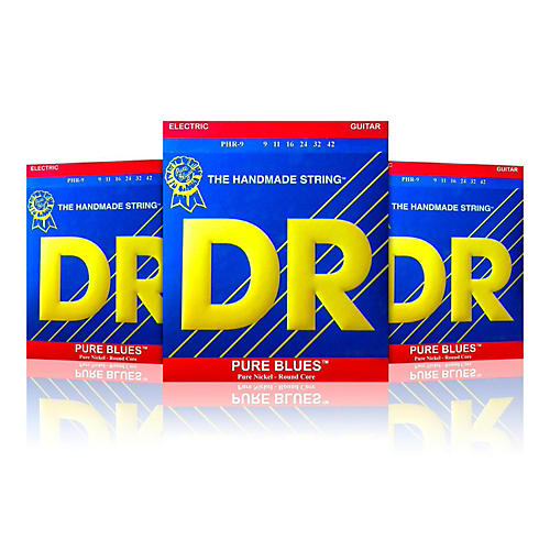 DR Strings PHR-9 Light Pure Blues Electric Strings - Buy Two, Get One Free thumbnail