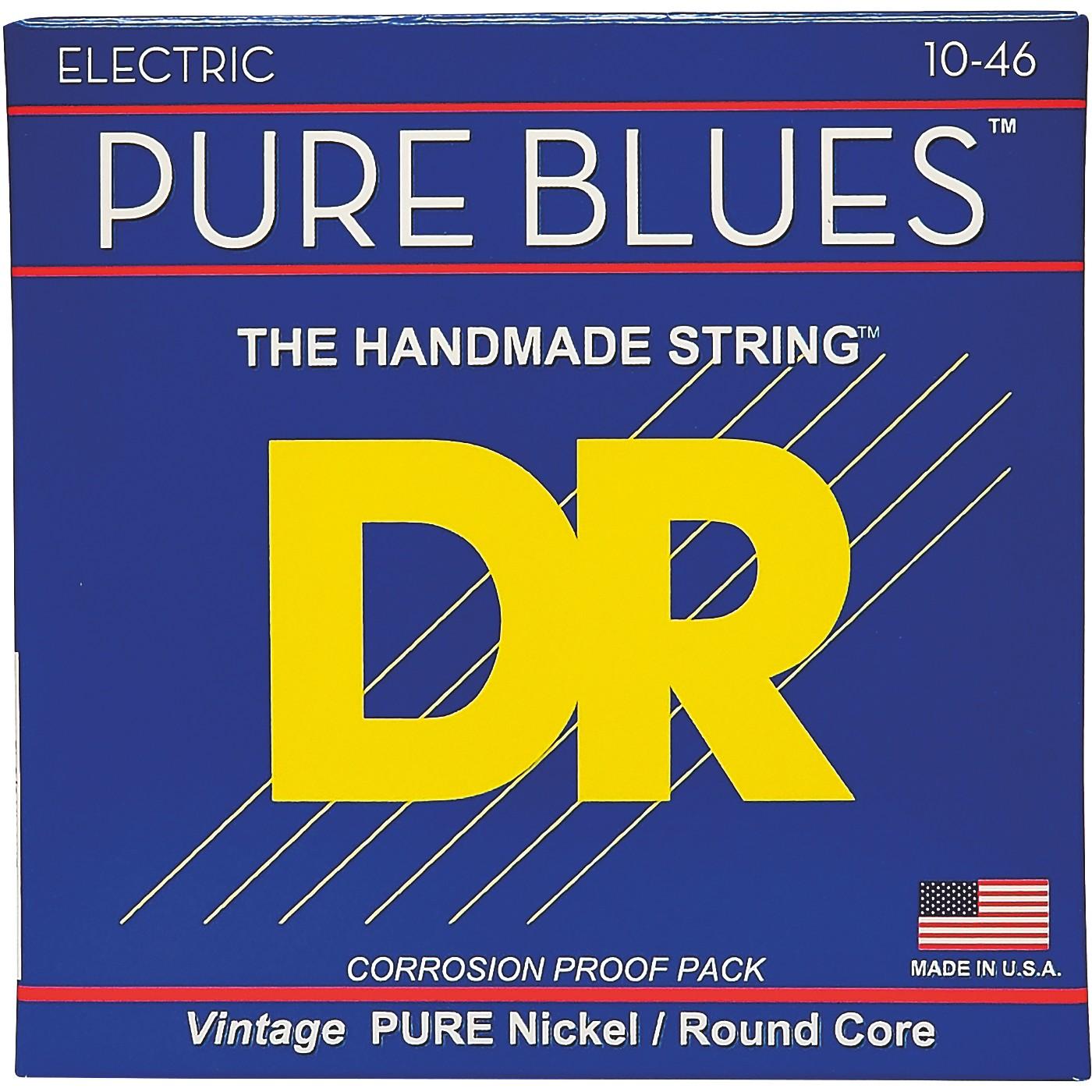 DR Strings PHR10 Pure Blues Nickel Medium Electric Guitar Strings thumbnail