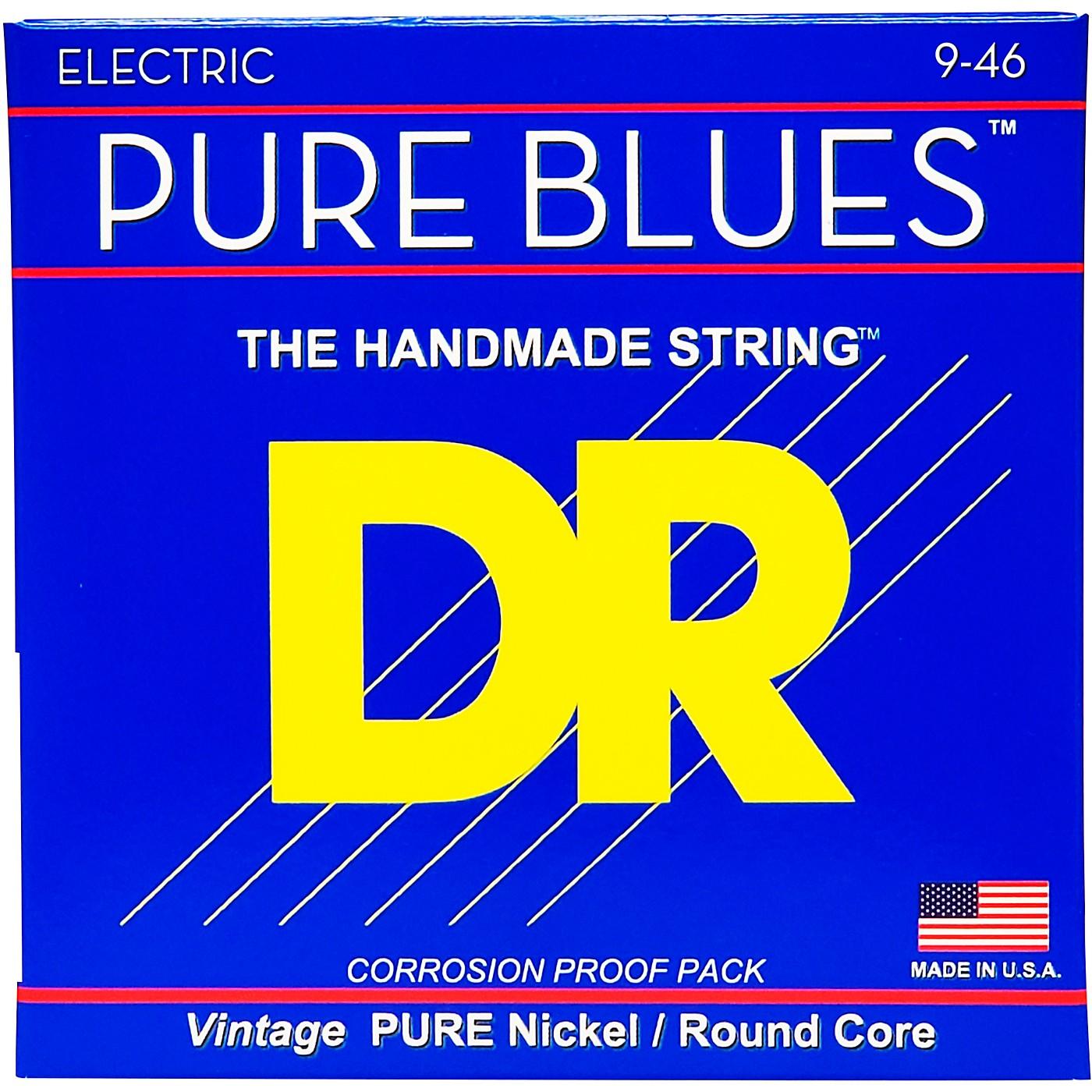 DR Strings PHR9/46 Pure Blues Nickel Lite'n'Heavy Electric Guitar Strings thumbnail