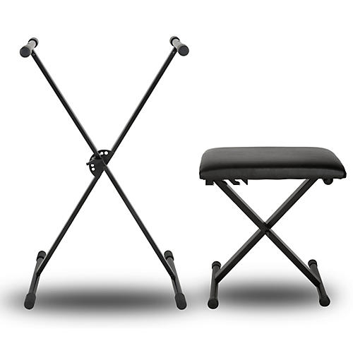 Musician's Gear PL100 Keyboard Stand and Padded Piano Bench thumbnail