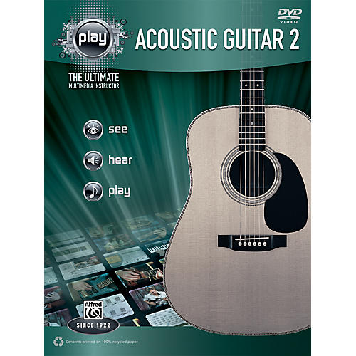 Alfred PLAY Series  Acoustic Guitar 2 Book & DVD thumbnail