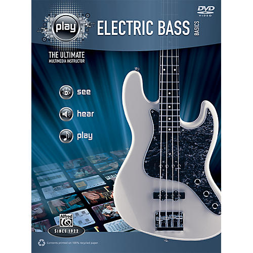 Alfred PLAY Series  Electric Bass Basics Book & DVD thumbnail