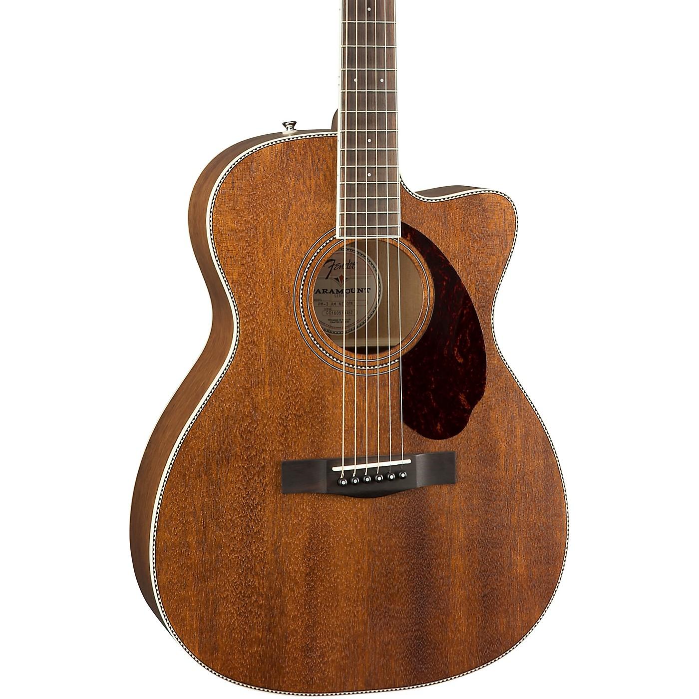 Fender PM-3 Standard Triple-0 All-Mahogany Acoustic Guitar thumbnail