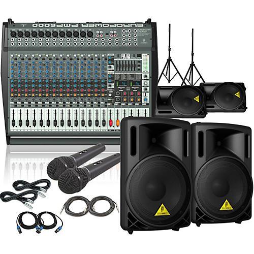 Behringer PMP6000 / B212XL Mains Monitors & Mics Package thumbnail