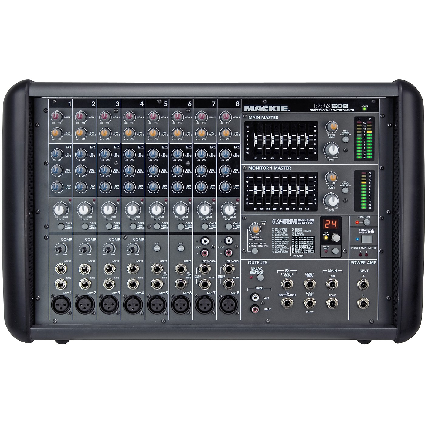 Mackie PPM608 8-Channel 1000W Powered Mixer thumbnail