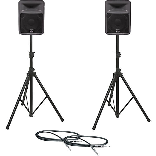 Peavey PR 10 Speaker Pair with Stands and Cables thumbnail