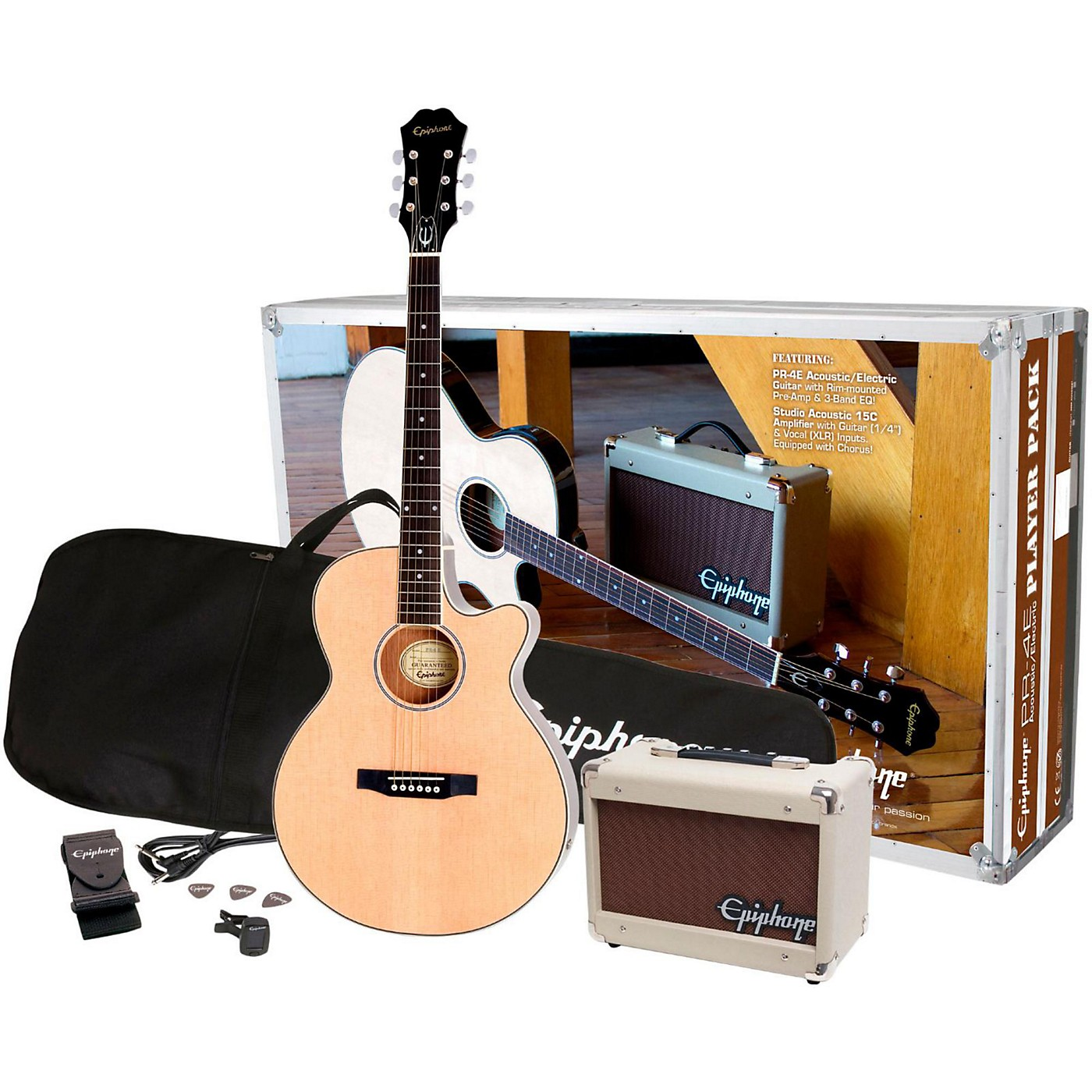 Epiphone PR-4E Acoustic-Electric Guitar Player Pack thumbnail