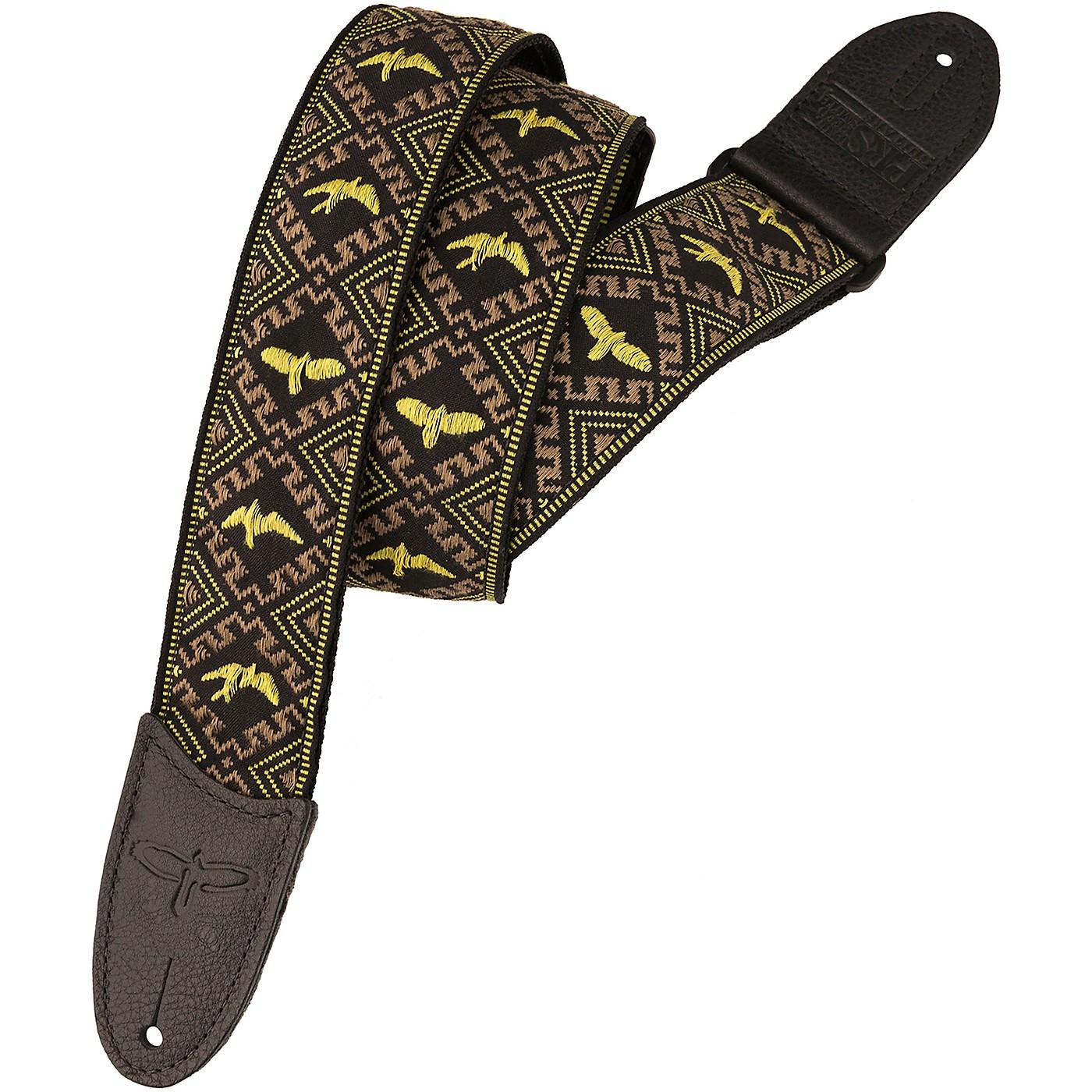PRS PRS Jacquard Hootenanny Style Guitar Strap, Yellow & Black Birds thumbnail