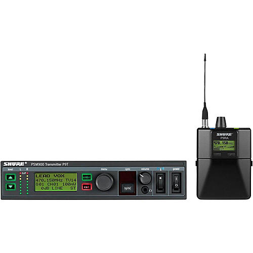 Shure PSM900 System with P9RA Rechargeable Bodypack Receiver without Earphones thumbnail