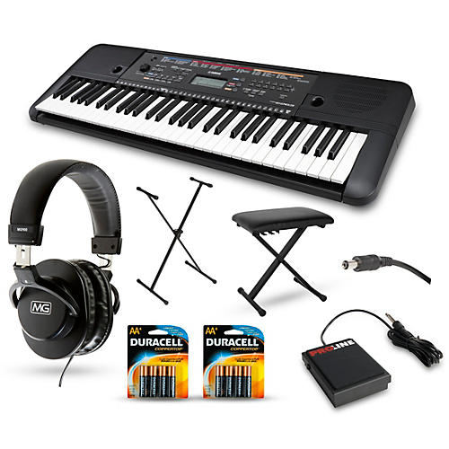 Yamaha PSR-E263 61-Key Portable Keyboard Packages-thumbnail