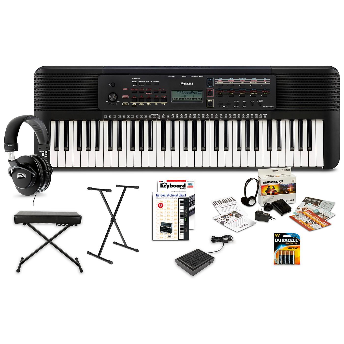 Yamaha PSR-E273 61-Key Portable Keyboard Package thumbnail