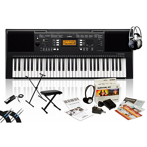 Yamaha PSR-E343 with M80 MkII, Bench, Stand & Sustain Pedal thumbnail