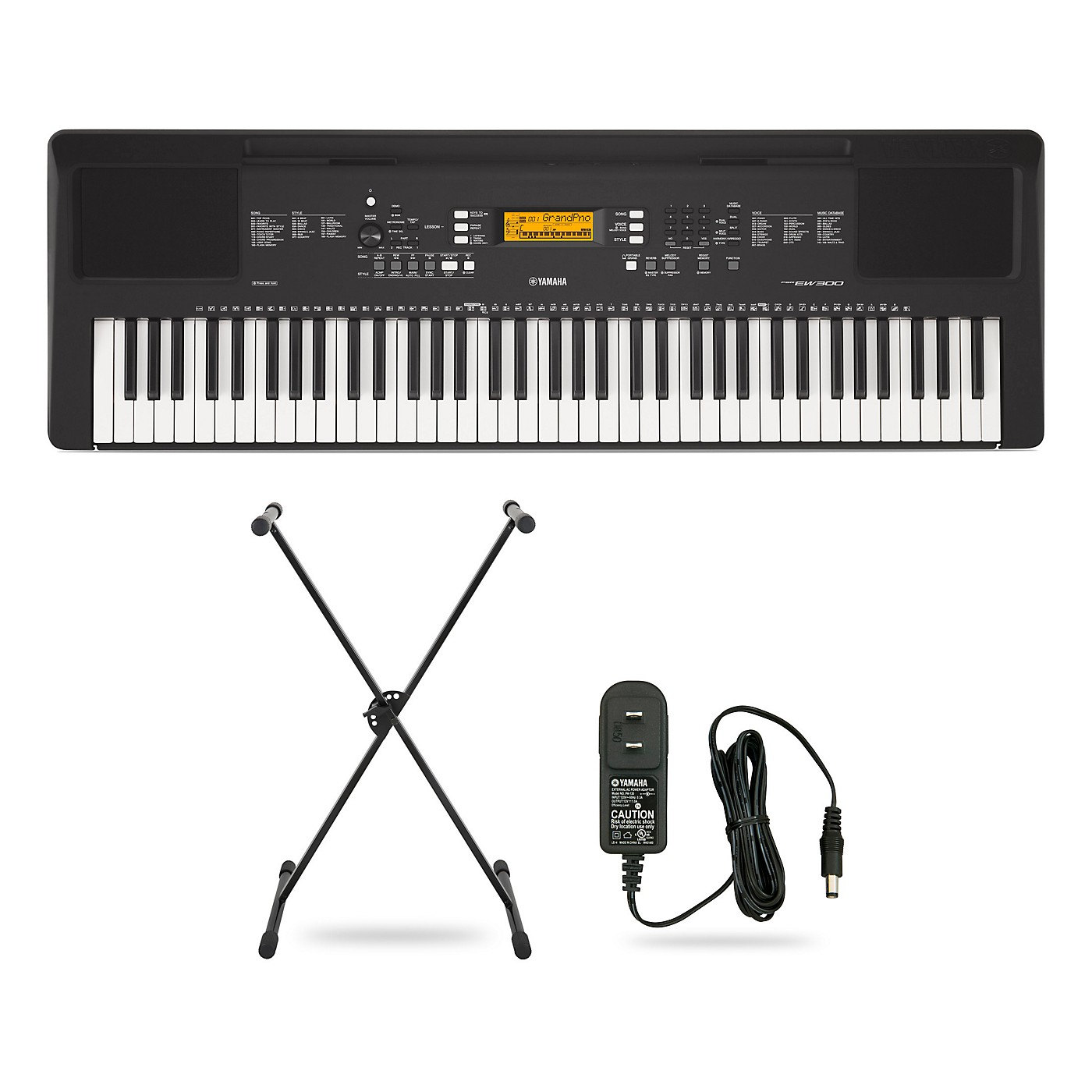Yamaha PSR-EW300 76-Key Portable Keyboard Package thumbnail