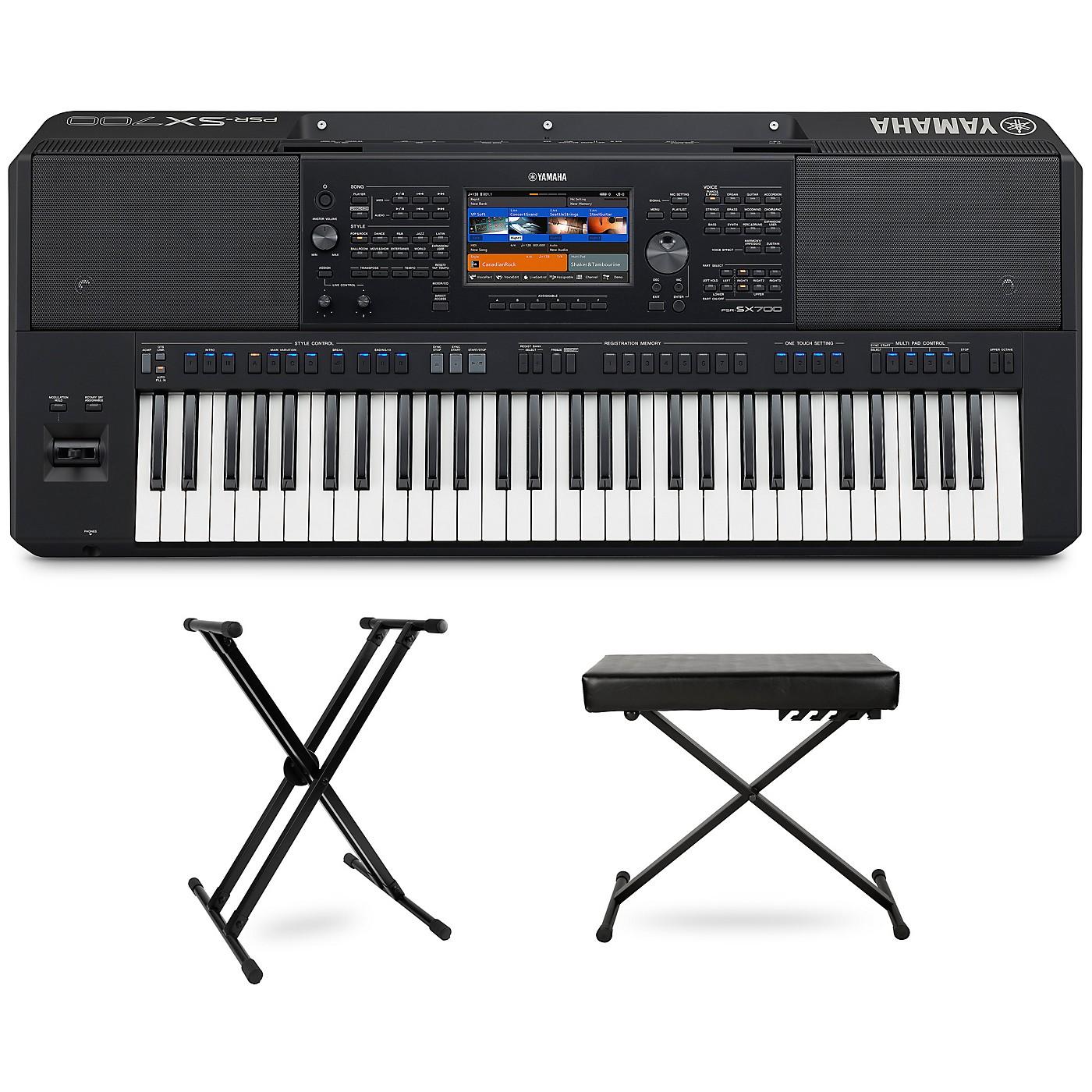 Yamaha PSR-SX700 Keyboard with Stand and Bench thumbnail