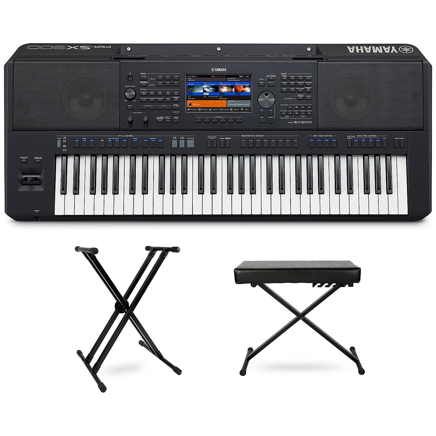 Yamaha PSR-SX900 Keyboard with Stand and Bench thumbnail
