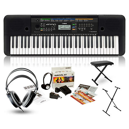 Yamaha PSRE253 with Headphones, Bench and Stand-thumbnail