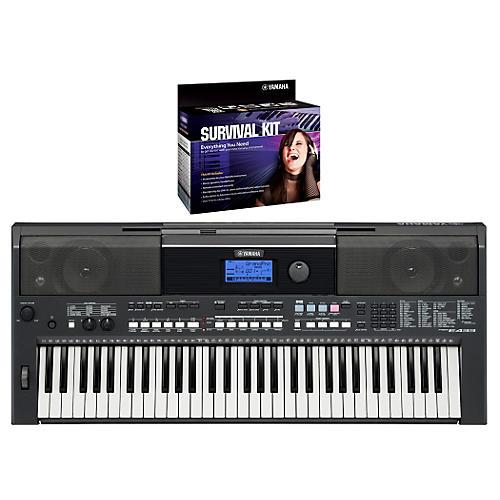Yamaha PSRE433 Portable Digital Piano with Yamaha D2 Survival kit thumbnail