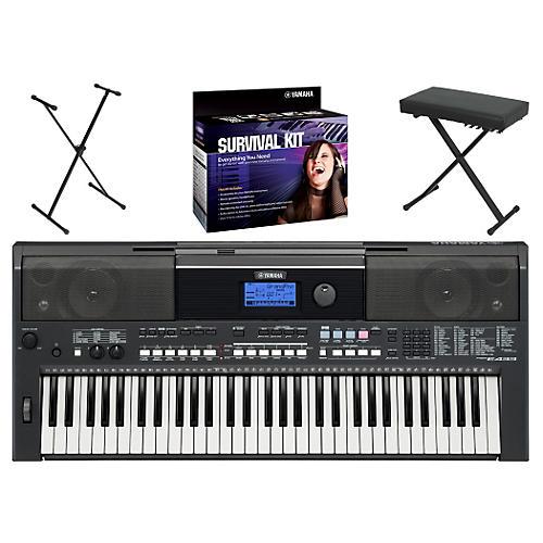 Yamaha PSRE433 Portable Digital Pianowith Yamaha D2 Survival Kit, Bench, & Stand-thumbnail