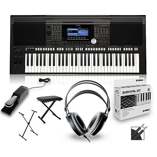 Yamaha PSRS970 with Headphones, Bench, Stand and Sustain Pedal-thumbnail
