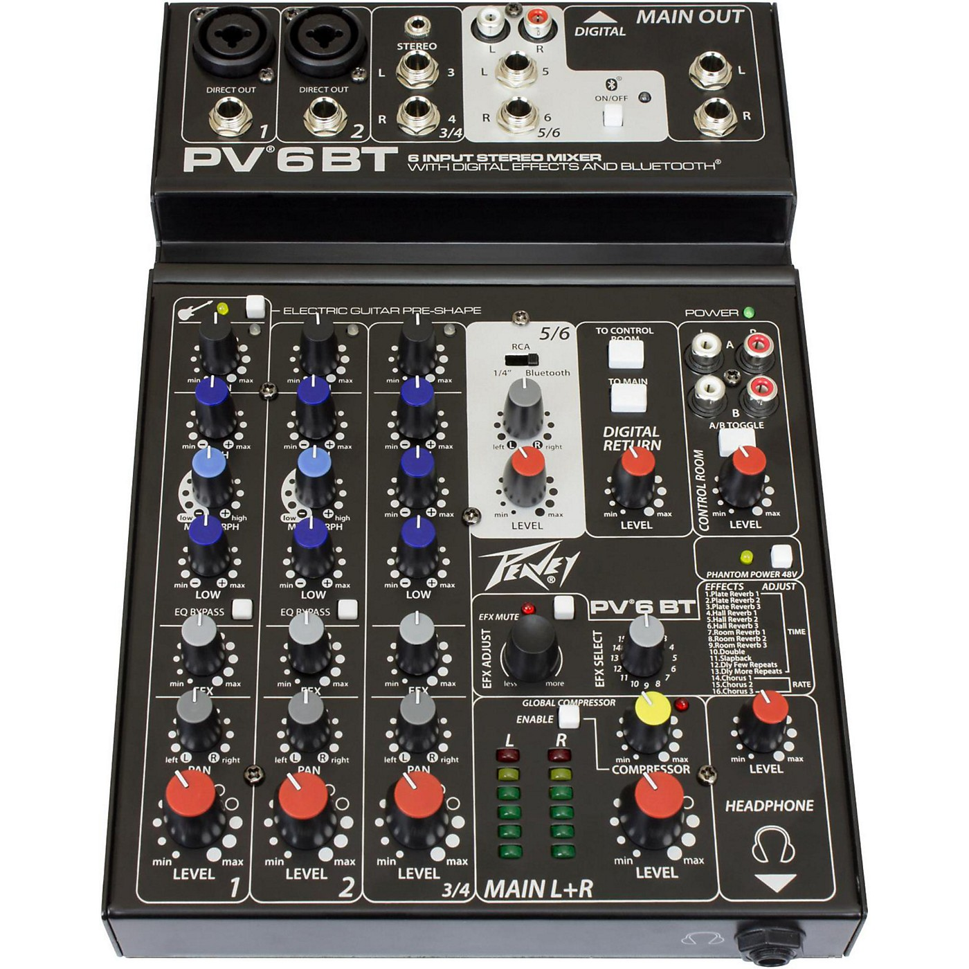 Peavey PV 6 BT Mixer with Bluetooth thumbnail