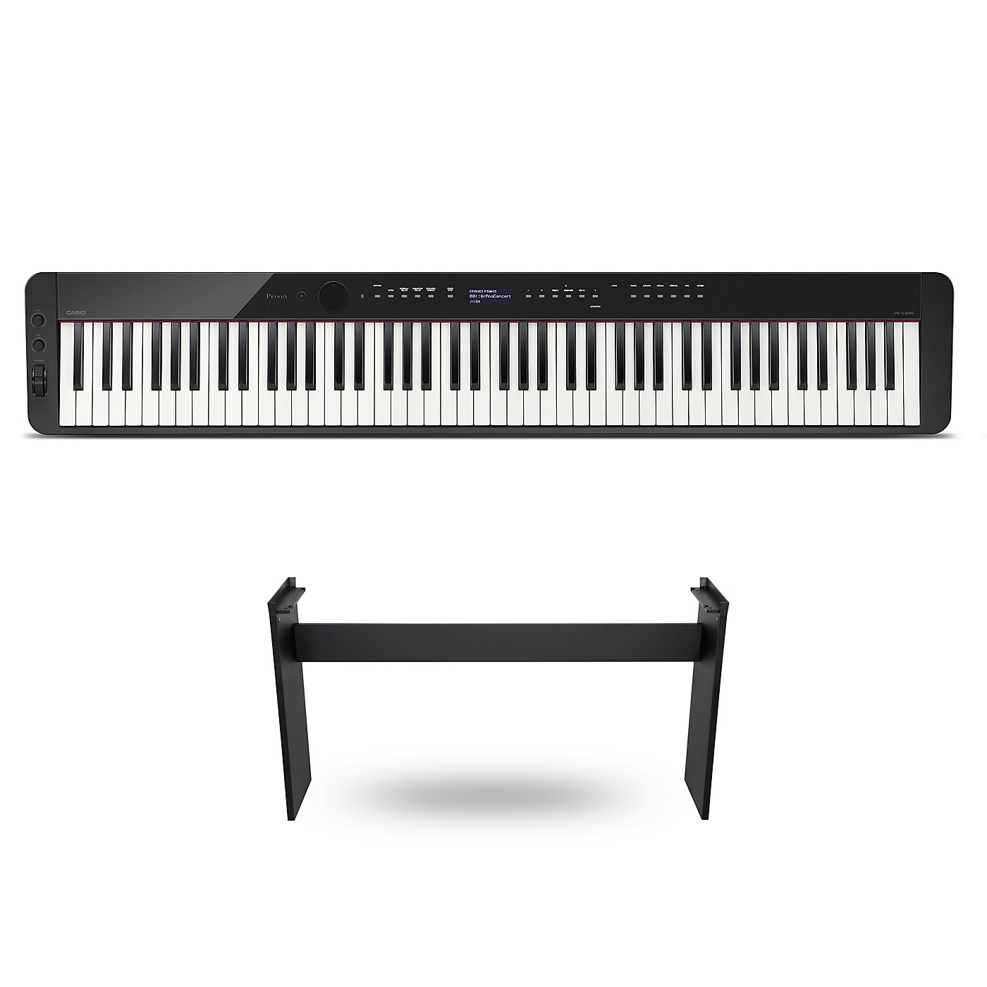 Casio PX-S3000 Privia Digital Piano Black With CS-68 Stand thumbnail