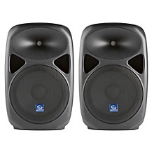 "Gem Sound PXB120USB 12"" Powered Speakers Pair with USB/SD Media Player"