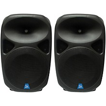 "Gem Sound PXB150USB 15"" Powered Speakers Pair with USB/SD Media Player/Wheels"