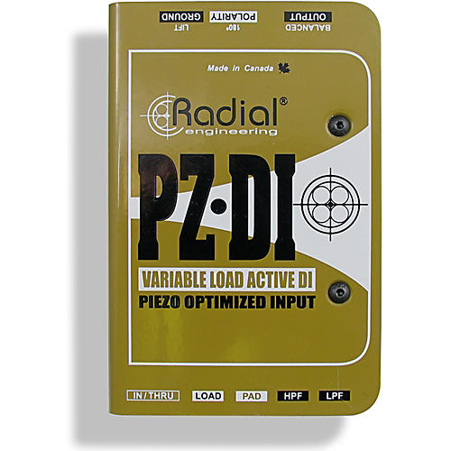 Radial Engineering PZ-DI Acoustic/Orchestral Instrument Active Direct Box thumbnail