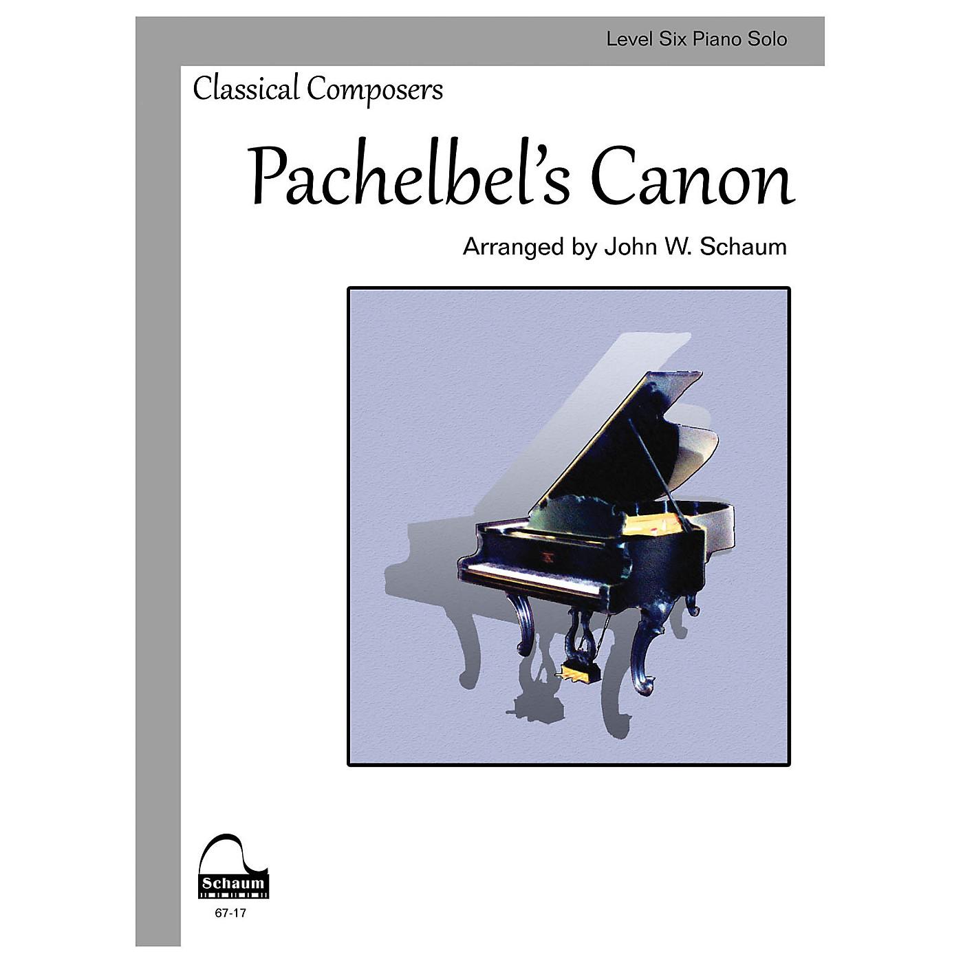 SCHAUM Pachelbel's Canon (Schaum Level Six Piano Solo) Educational Piano Book by Johann Pachelbel thumbnail