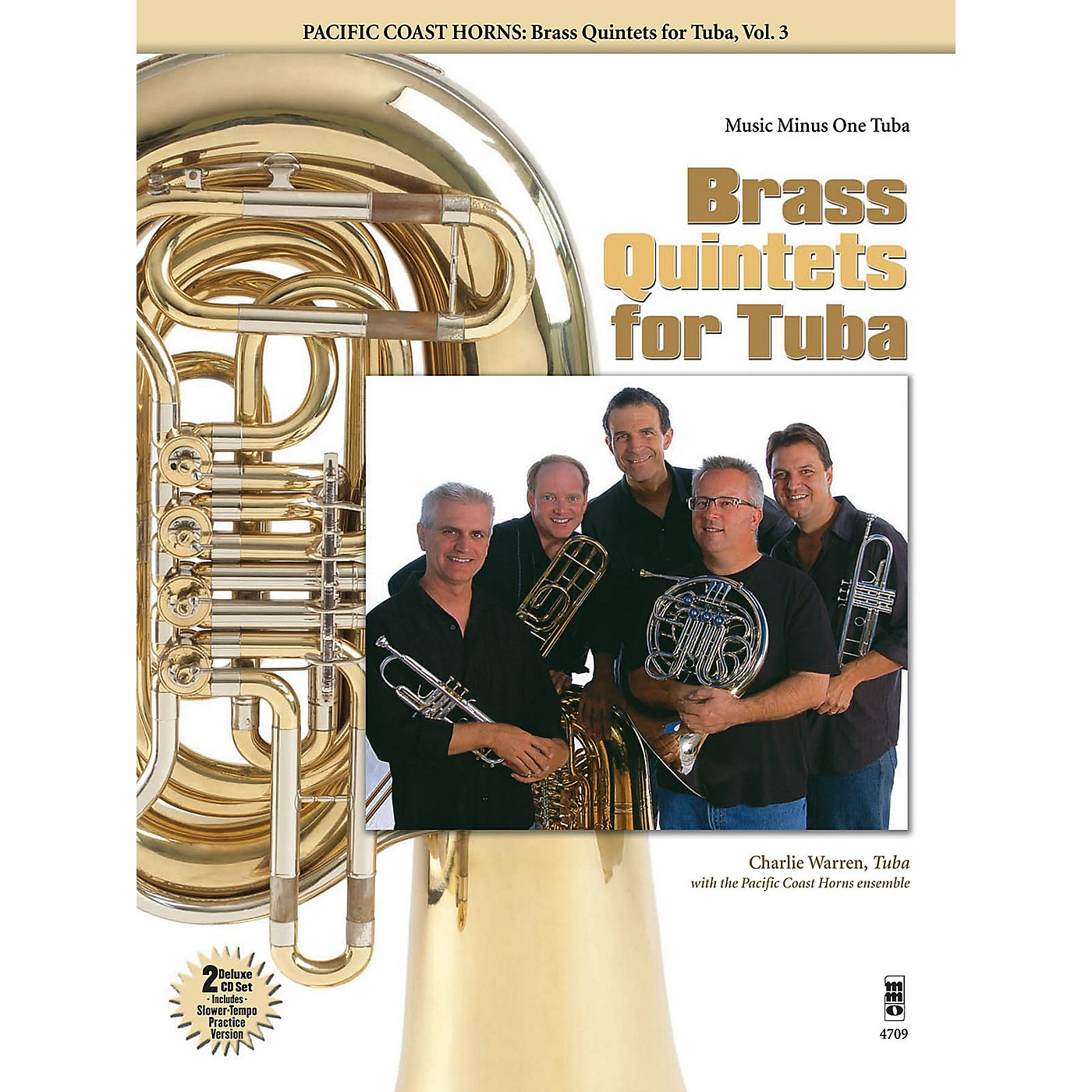 Music Minus One Pacific Coast Horns - Brass Quintets for Tuba, Vol. 3 Music Minus One Series Softcover with CD thumbnail