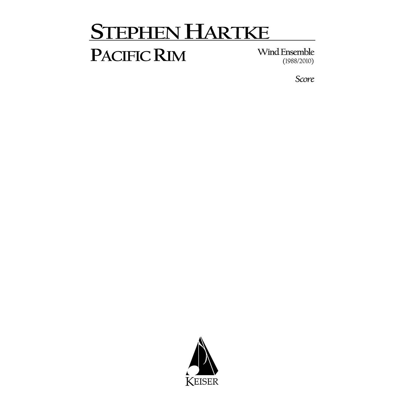 Lauren Keiser Music Publishing Pacific Rim for Wind Ensemble (Full Score) LKM Music Series by Stephen Hartke thumbnail